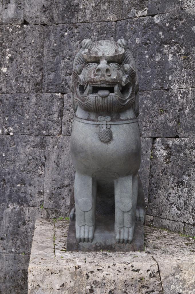 沖繩 首里城 石獅子