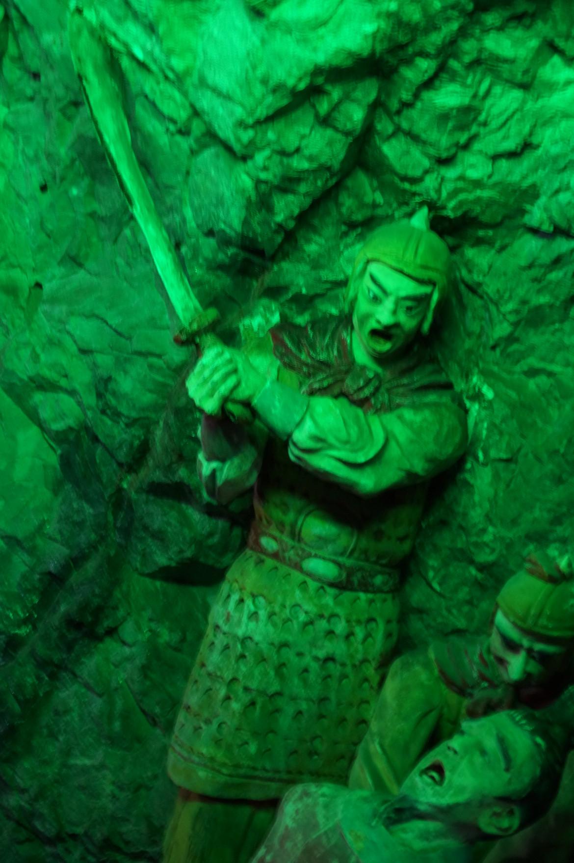 肇慶七星岩山洞中的斬首石像
