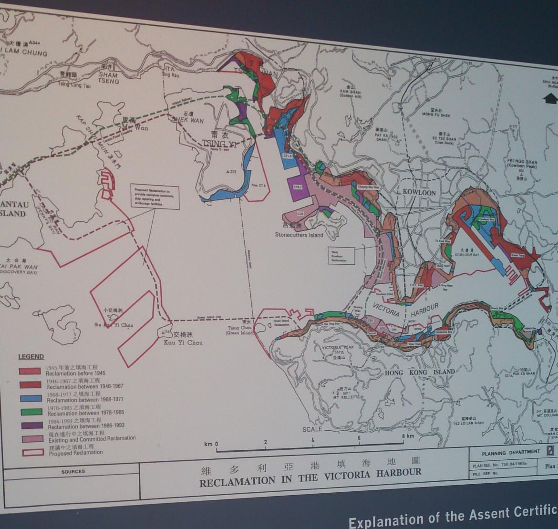歷年維港填海範圍圖