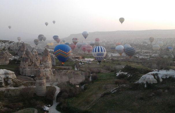 土耳其 奇石林 熱氣球