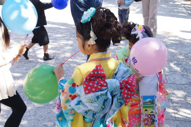 沖繩 波上宮 七五三節 和服女孩