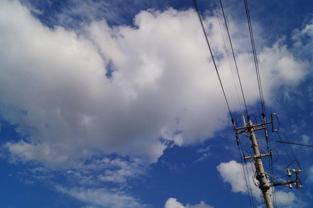 沖繩 讀谷 藍天白雲