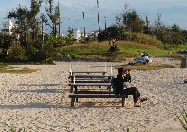 沖繩 殘波海灘 陳丹尼