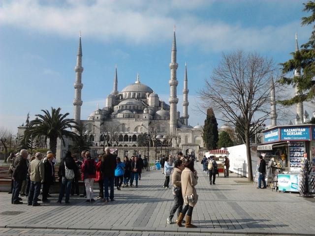 土耳其 伊斯坦堡 藍色清真寺廣場