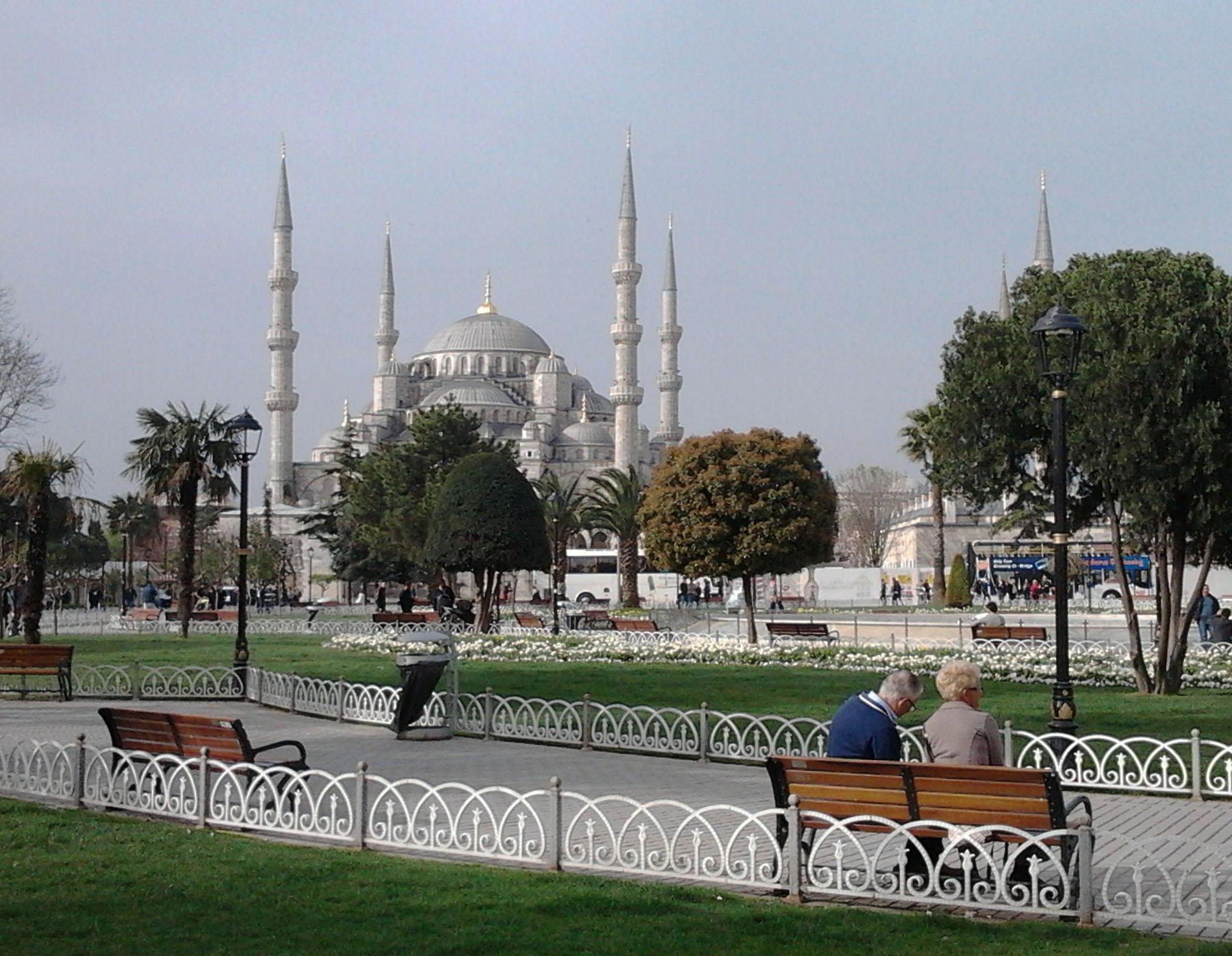 土耳其 伊斯坦堡 藍色清真寺遠景