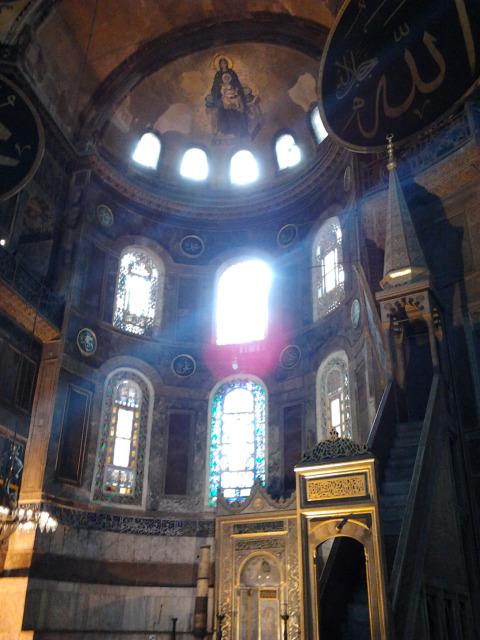 土耳其 伊斯坦堡 聖索菲亞大教堂內部