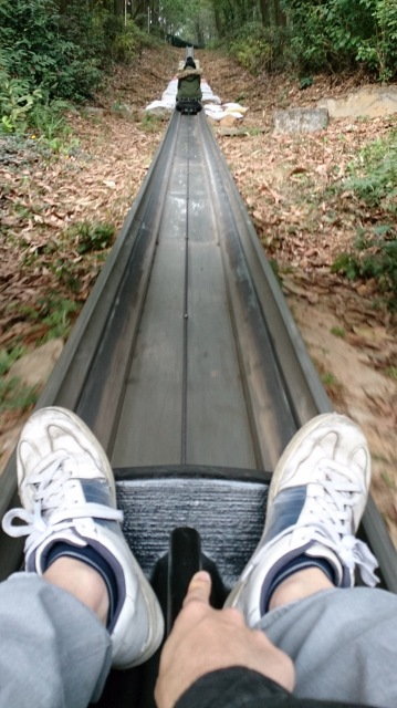 東湖旱地雪橇 上斜中