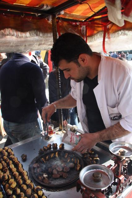 土耳其 伊斯坦堡 栗子小販