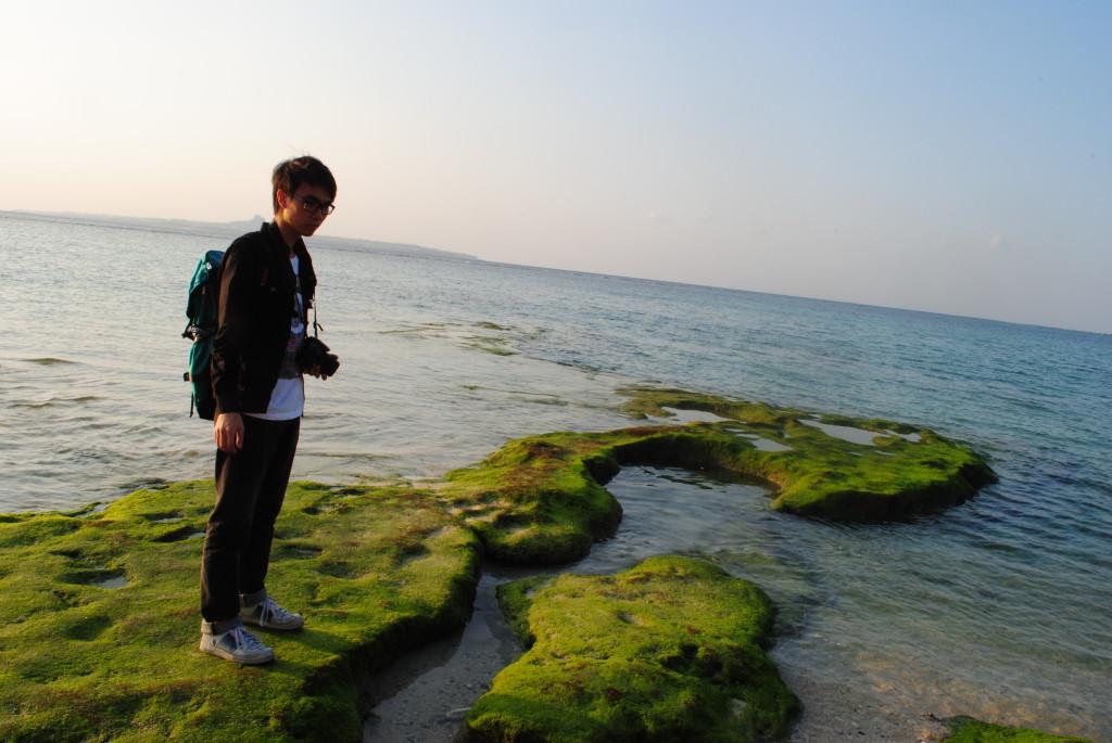 沖繩美麗海水族館 海邊自拍