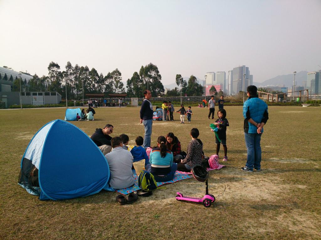 啟德跑道公園 一家人野餐