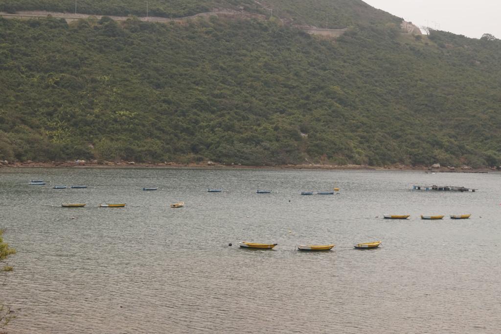 布袋澳港灣上的漁船