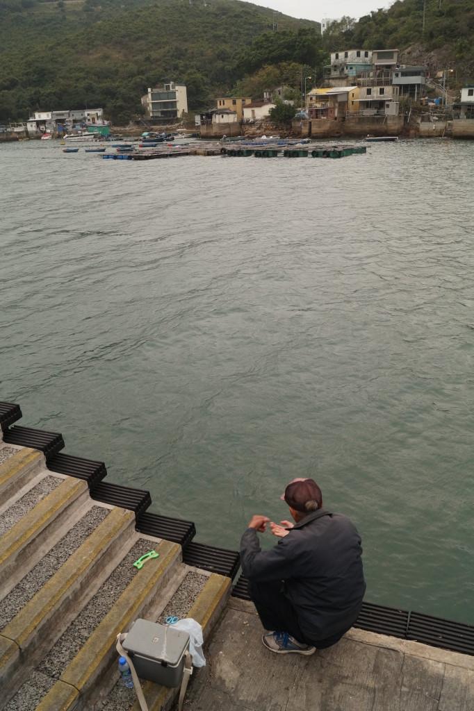 布袋澳釣魚阿伯